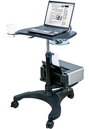 (Aidata Ergonomic Sit-Stand Mobile Laptop Cart Work Station with Printer Shelf (Model: LPD009P))