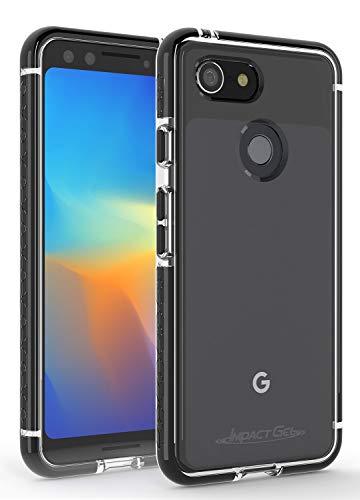 Impact Gel Compatible with Google Pixel 3 Crusader Lite Series Slim Protective Case (Black)