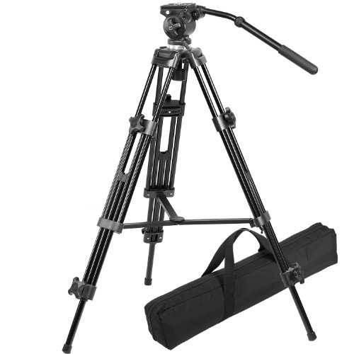 Ravelli AVTP Professional 75mm Video Camera Tripod with Fluid Head and a...