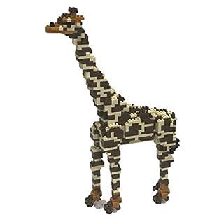 Nanoblock Deluxe Giraffe Building Kit, Orange