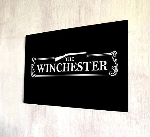 Interesting Sign,The Winchester, Pub Sign Shaun of The Dead Metal Signs Retro Vintage Shabby Metal Wall Plaque Home Decor Wall Art Door Wall Art White,Collectible Wall Art