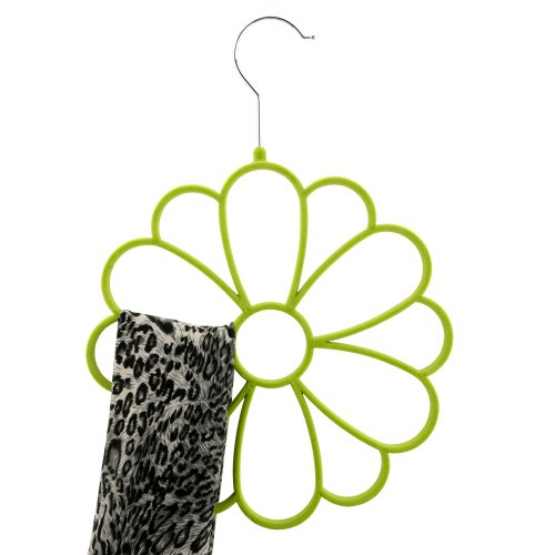 Home-Cube® Velvet Scarf Holder - Protect and Organize Your Delicate Scarves - Soft Scarf Hanger/Organizer for Closet (Green)