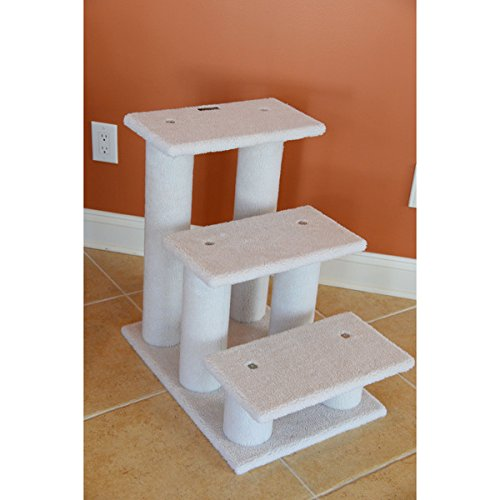 Easy To Assemble With Step-by-Step Instructions And Tools With This Armarkat White Pet Steps