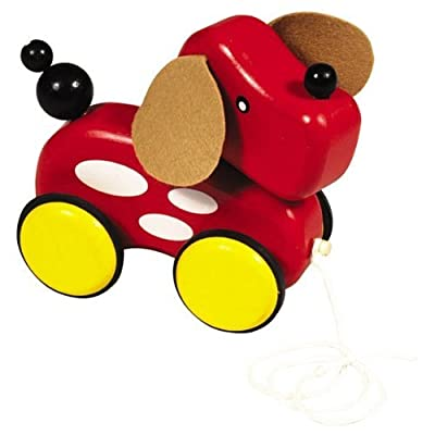 Guidecraft Pull Along Animal Puppy : Push And Pull Baby Toys : Baby