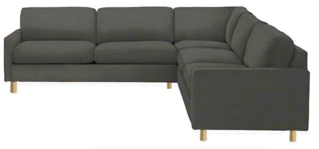 The Heavy Duty Cotton Karlstad Corner Sofa Cover ( 2+3 / 3+2 ) Replacement, Is Custom Made for Ikea Karlstad Sectional Slipcover Replacement (Cotton Dark Gray)