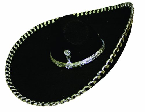 Alexanders Costume Mariachi Hat, Silver, One Size