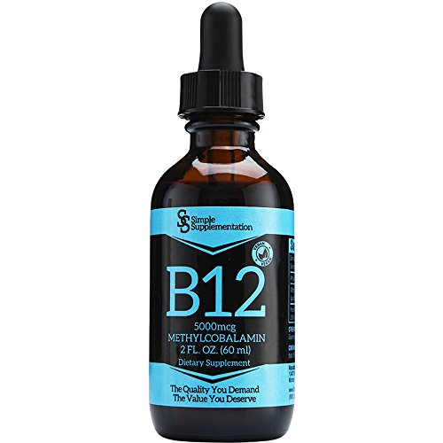 Top Quality Vitamin B12 Drops for Less - Compare - A Full 60 Servings x 5000mcg - Sublingual Methylcobalamin Liquid - Vegan - Organic - Alcohol-Free - Boost Energy & Metabolism - Feel Your Best - USA