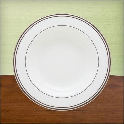 Federal Platinum Chocolate Pasta/Rim Soup Bowl