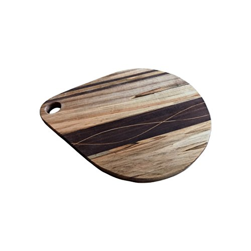 Teardrop shaped cutting board, handmade, 12 inches long, made with Maple and Walnut