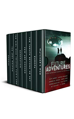 Eight complete Adventure Science Fiction novelsWatcher's Web by Patty JansenEuropa by Aurora SpringerFew Are Chosen by M.T. McGuireThe Truth Beyond The Sky by Andrew M. CrusoeGeneration by J.J. GreenThe Girl Who Twisted Fate's Arm by George Saoulidis...
