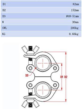 perfk 360度パイプ 2インチ トラス用 デュアルトラスチューブ クランプ 定格照明200 Kgs