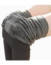PRETYZOOM Leggings Forradas de Lã Femininas Calças Quentes de Inverno Calças Térmicas