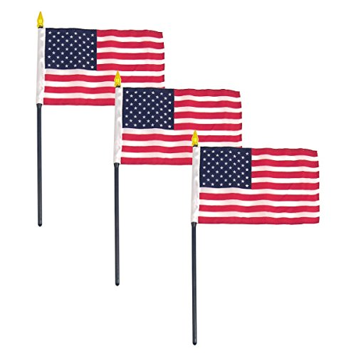 4in x 6in USA stick flag Best Quality - - Stores Online Usa