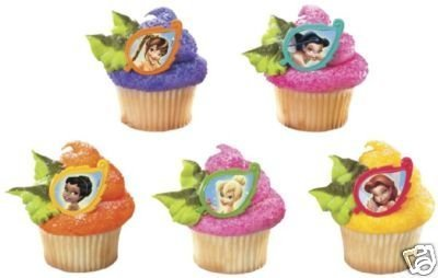 Tinkerbell Fairies Cupcake Rings Party Favors