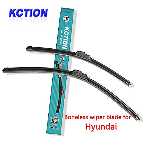 Occus Wipers Car Windshield Wiper Blade for Hyundai Solaris Elantra Sonata 8 I10 I20 I30 I40 IX20 IX25 IX35 Tucson Accent,Natural Rubber - (Item Length: I40 16 26)