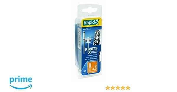 RAPID 5000379 Remaches Plateado 0 W 4x12mm