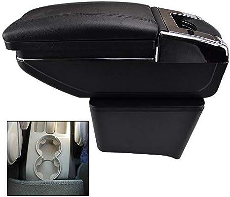 Drehbare Armlehne Für Polo 9n 9n3 Mk4 2002 2009 Schwarz Gewinde Aufbewahrungsbox Armlehne Black With Black Thread Auto
