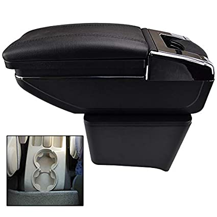 Rotatable Armrest For Polo 9N 9N3 Mk4 2002-2009 Black Thread Storage Box Arm Rest