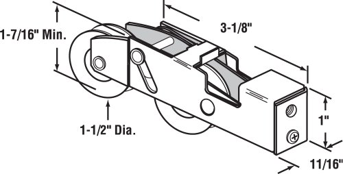 Prime-Line Products D 1988 Sliding Door Tandem Roller Assembly, 1-1/2-Inch Steel Ball Bearing by Prime-Line (Image #1)