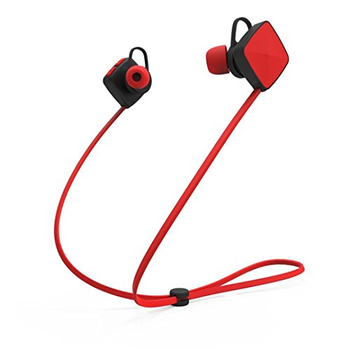 Price comparison product image Bluetooth Headphones,Sunfei Bluetooth Wireless Handfree Headset Stereo Headphone Earphone Sport Universal (Red)