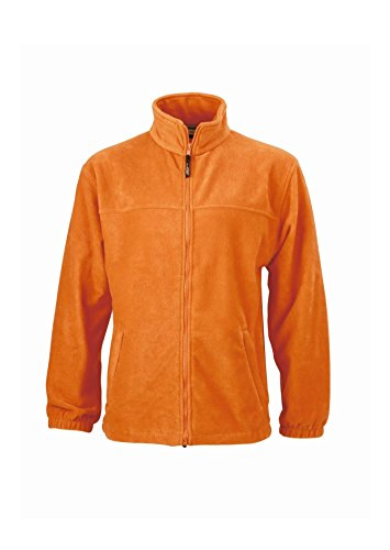 Orange Fleece Sportiva In Pesante zip Full Uomo Giacca 4UOwqfw