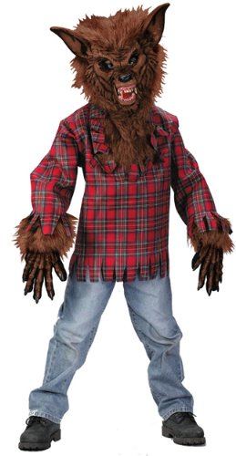 Wolfman Costume Cheap (Werewolf Child Costume - Brown)