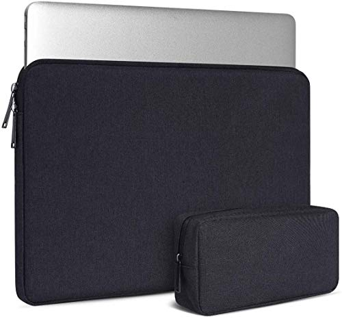 Dynotrek Grade 13.6″inch Laptop Tablet Ipad Chromebook Sleeve Case Cover with Charger Pouch -Charcoal Black ( GRD 13.6 )