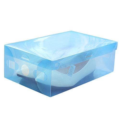 Elevin(TM) Foldable-Plastic-Shoe-Boxes-Organizer-Storage-Stackable-Tidy-Box BU -