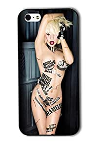 Tomhousomick Custom Design Women's Fashion Cases Sexy Singer Lady Gaga Case for iPhone 5 5S Back Cover #155