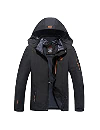 Modern Fantasy Men's Mountain Ski Hooded Windproof Winter Outdoor Jacket