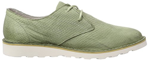 Blackstone sage Grün cordones derby Mujer Zapatos de Ll69 Verde qwgTa