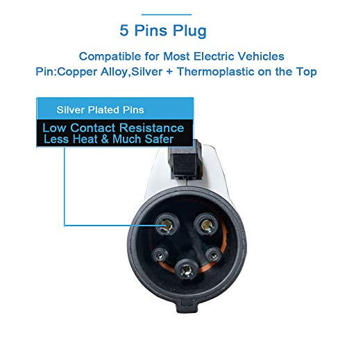 KHONS J1772 Plug Type 1 Level 2 EVSE Connector (32 Amp, 110V-240V) North American Standard UL Rated by K.H.O.N.S. (Image #2)