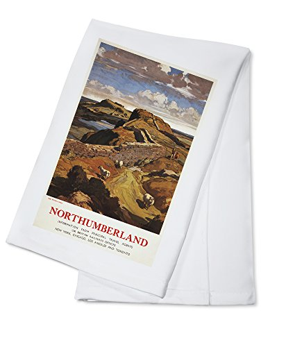 hadrians-wall-and-sheep-british-rail-poster-100-cotton-absorbent-kitchen-towel