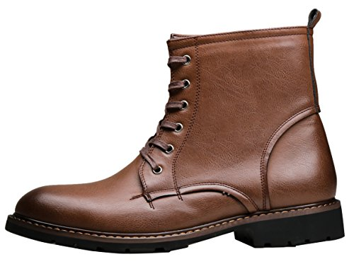 SHENBO Mens Oxford Boots Brown IaAGnG
