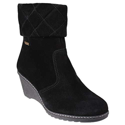 Cotswold Womens/Ladies Cornwell Waterproof Zip up Fashion Ankle Boots Black