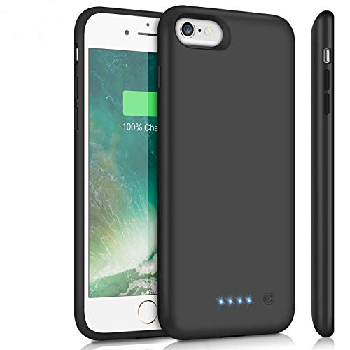 Battery Case for iPhone 6Plus/6s Plus/7Plus /8Plus, Upgraded 8500mAh Portable Charging Case Extended Battery Pack for iPhone 6s Plus/6 Plus/7 Plus /8 Plus Rechargeable Charger Case(5.5 inch)- Black (Compare Iphone 6s Plus And Iphone 7)