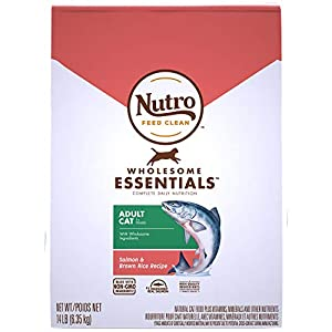 NUTRO WHOLESOME ESSENTIALS Natural Dry Cat Food, Adult Cat Salmon & Brown Rice Recipe, 14 lb. Bag 92