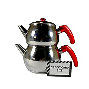 Stainless Steel Turkish Tea Pot Size No:2