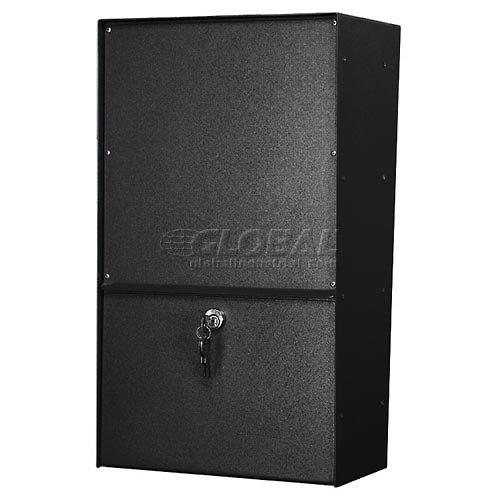 Jayco LLAVRW Wall Mount Vertical Rear Access Aluminum Letter Locker Mailbox Black