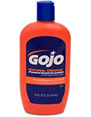 GOJO NATURAL* ORANGE Pumice Hand Cleaner, 14 fl oz Quick-Acting Lotion Cleaner Squeeze Bottle (0957-12)