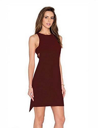 Sheath Kate Out 280643AJ SZ Dress amp; Womens Young Bishop Burgundy Cut Sleeveless L w4Xt0xqB