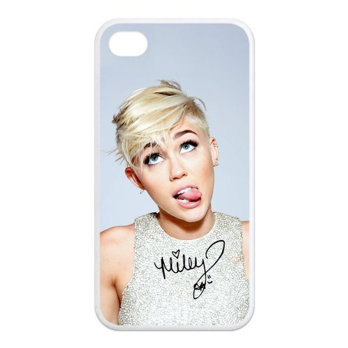 Fayruz- Miley Cyrus Protective Hard TPU Rubber Cover Case for iPhone 4 / 4S Phone Cases A-i4K255
