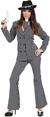 Costume Mob Italian (Ladies Gangster Woman Costume Medium Uk 10-12 For 20s 30s Mob Capone)