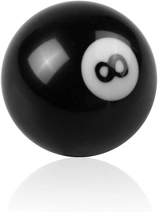 Deinbe Engranaje del Coche Cambio de Forma Perilla Bola de Billar 8 Universal Manual Palanca Palo Shifter acrílico Piezas de Repuesto Negro: Amazon.es: Hogar