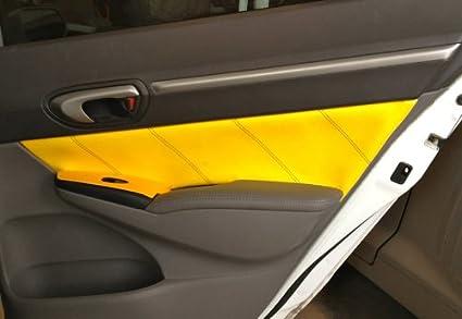 RedlineGoods Honda Civic 2006-11 cubierta de apoyabrazos de puertas traseras de