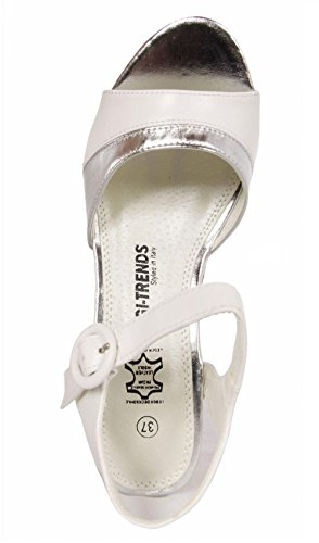 White 729850 Goco Sandales b7200 silver Femme Pour Urban ZzgqwYw