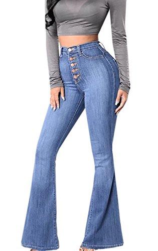 Waist Flare Jeans - 8