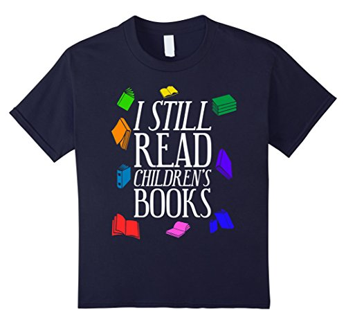 Book Nerd Costume (Kids Funny I Still Read Childrens Books T-shirt Book Lover Nerd 12 Navy)