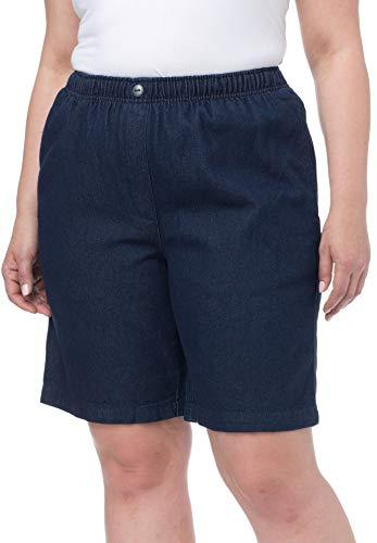Woman Within Plus Size Mock Fly Cotton Jean Short - Indigo, 16 W