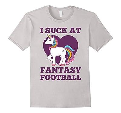 I Suck At Fantasy Football T-Shirt Funny Draft Party Unicorn